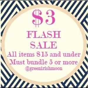 $3 add to bundle sale  5/$15